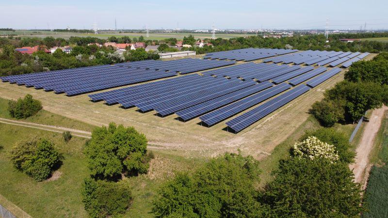 Die größte Photovoltaikanlage Wiens steht im Grünen.