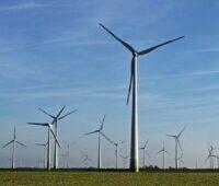 Bis zum Horizont Windenergieanlagen an der Westküste Schleswig-Holsteins