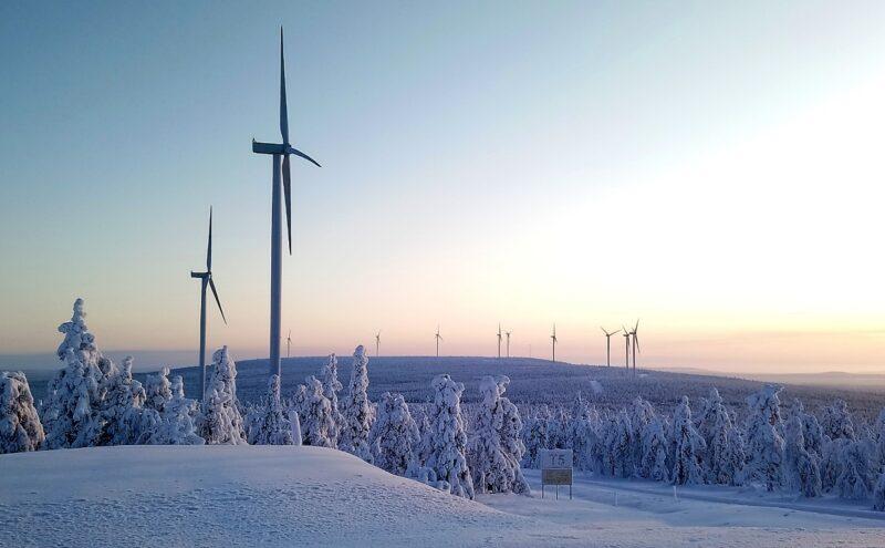 Zu sehen ist einer der Windparks von Nordex in Finnland.