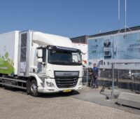 Zu sehen ist die mobile Wasserstofftankstelle WyRefueler.