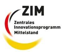 Zu sehen ist das Logo Zentrales Innovationsprogramm Mittelstand (ZIM), das das ZIM-Netzwerk Green Meth fördert.