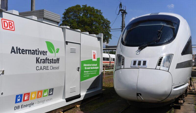 Zu sehen ist der Testzug advanced TrainLab der Deutschen Bahn.