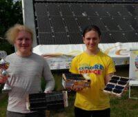 Zu sehen sind Anton und Jasper, die Titelverteidiger vom Schleswig-Holstein Solarcup bei den Über-14-Jährigen.