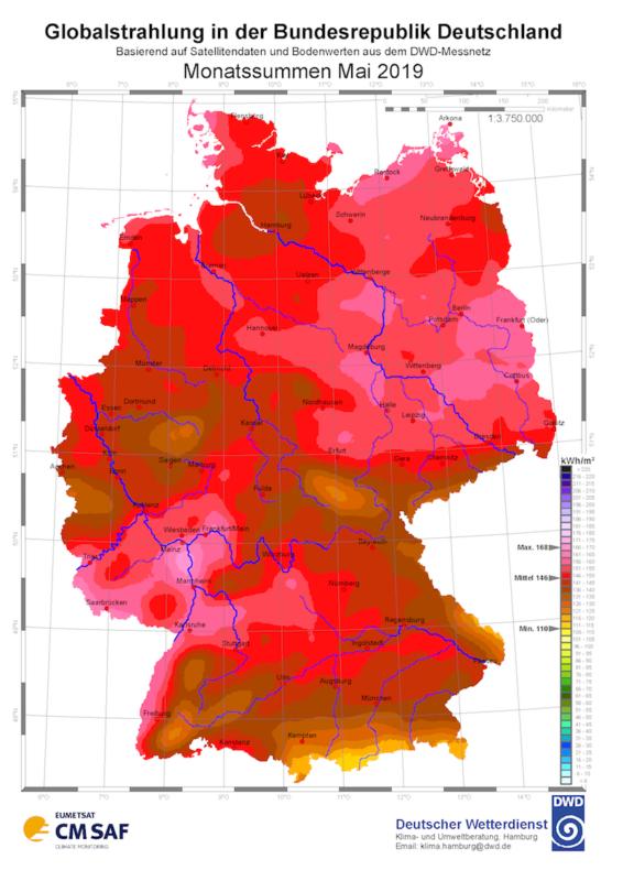 Strahlungsdaten Mai 2019 Deutscher Wetterdienst