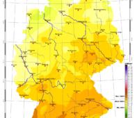 Deutschlandkarte mit Strahlungsdaten
