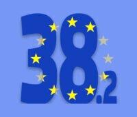 Grafik 38,2 mit Europaflaggen-Design