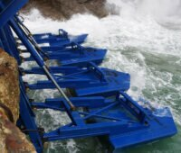 Schwimmkörper des Onshore-Wellenkraftwerkes