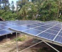 Solarmodule auf den Philippinen.