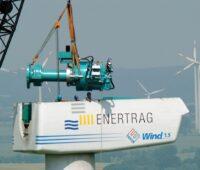 Zu sehen ist eine Windkraftanlage. Windstromüberschüsse werden in nechlin jetzt im Windwärmespeicher genutzt.