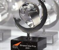 Zu sehen ist der europäische Solarpreis stellvertretend für die Solarpreise 2020.