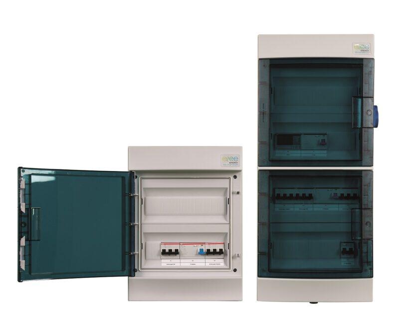 Zu sehen ist die Ezee Box, eine AC-Anschlussbox für die AC-seitige Installation von Photovoltaik-Anlagen.