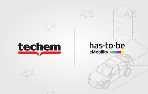 Zu sehen ist eine Grafik zur strategischen Partnerschaft von der has·to·be gmbh und Techem.