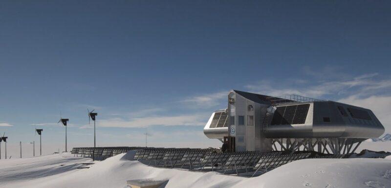 Das Bild zeigt die Forschungsstation Princess Elisabeth in der Antarktis: Photovoltaik zum Heizen wird hier neuerdings genutzt.