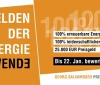 Anzeige zur Bewerbung des Salvamoser-Preises
