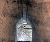 Blick in einen unterirdischen Salzstock.