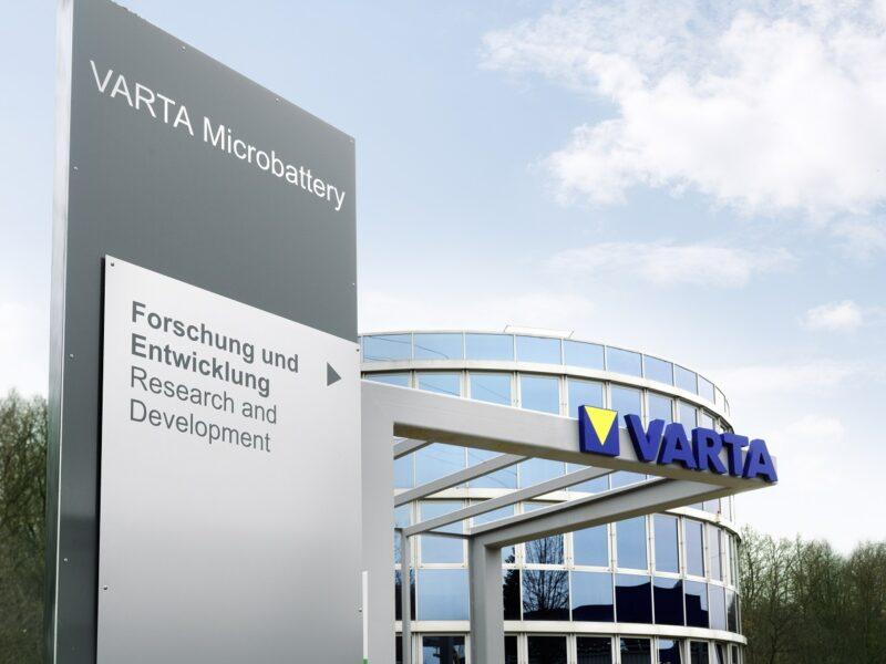 Zu sehen ist das Gebäude von Varta für Forschung und Entwicklung. Varta erhält Fördermittel von Bund und Ländern.